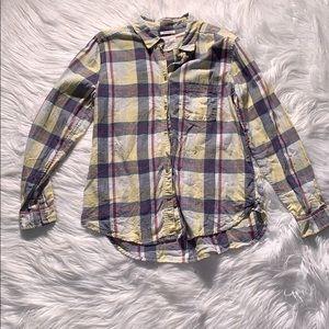 "American Eagle ""Boyfriend Fit"" Plaid Shirt"